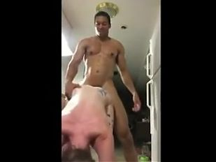 Slutty girl fucked by a stranger and screams out loud
