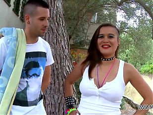 MyFirstPublic - Busty lady love fuck in public and swallow