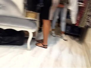 Candid hot feets, legs& natural toes at shopping