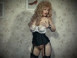 THE SKIN TRADE - vintage 80's big tits blonde strip dance