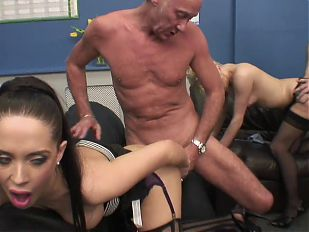 Dirty sluts loves older cock in their young pussies